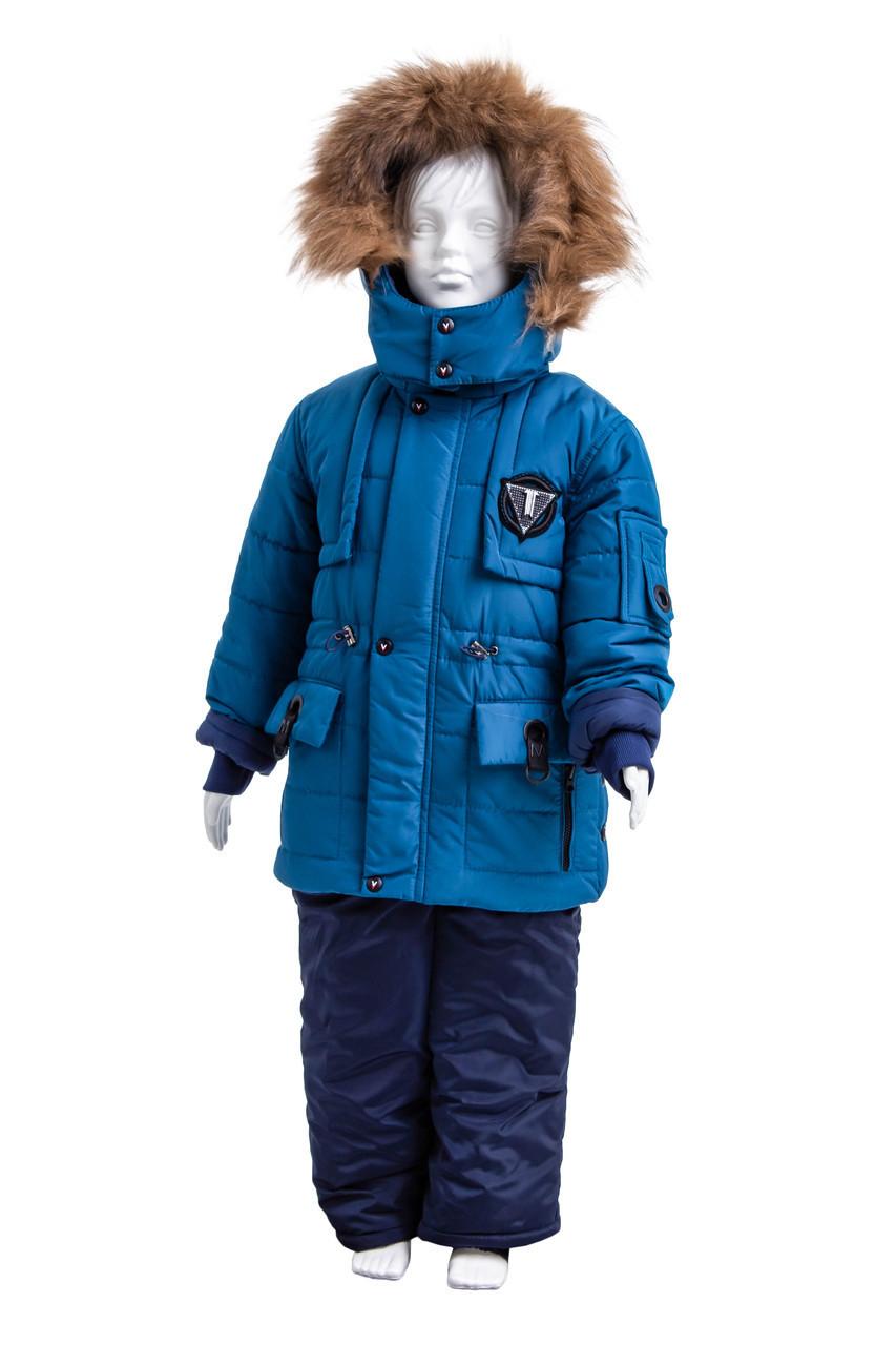 Зимний комбинезон для мальчика от производителя  22-28  волна