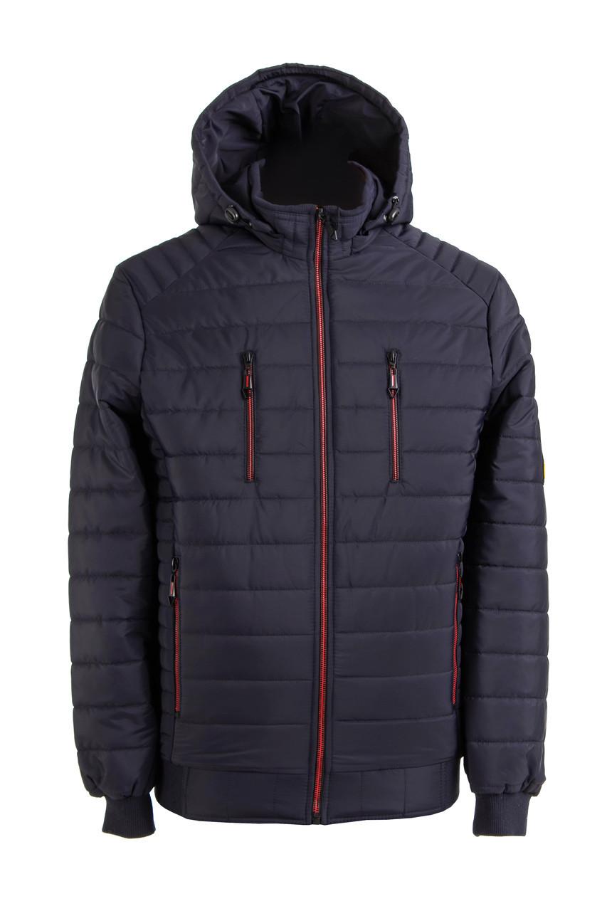 Куртки демисезонные мужские   с капюшоном   48-56  синий