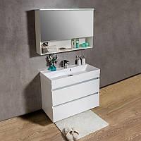 Зеркальный шкафчик  FANCY MARBLE Okinava 1200 с диодной подсветкой, белый
