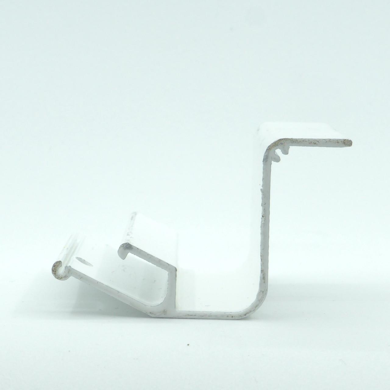Профиль алюминиевый для натяжных потолков - парящий, усиленный, крашеный белый, без вставки №4. Длина профиля