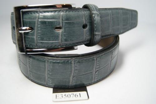 Ремень брючный кожаный классический (зеленый) ALON