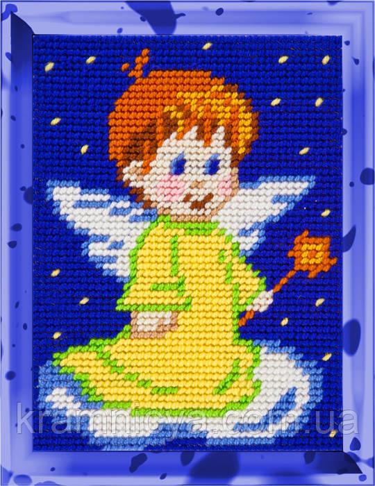 """Набор для вышивания с пряжей """"Ангелочек-2"""" 15х20 см. Bambini арт. 2249"""