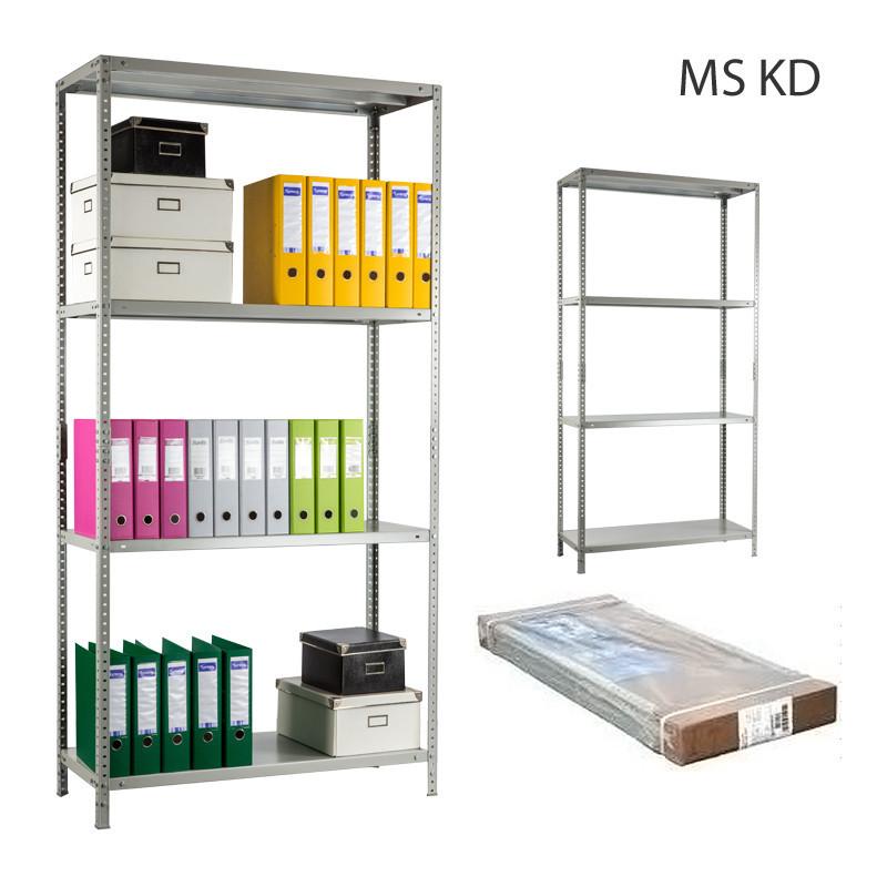 Стеллаж металлический Практик MS-185KD/100x30/4 полки, фото 1