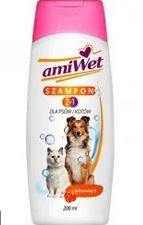 Шампунь Амивет 2в1 с витамином Е для собак и кошек, 200мл