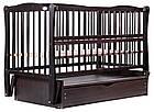 Кровать Babyroom Еліт маятник, ящик, откидной бок DEMYO-5  бук венге, фото 4