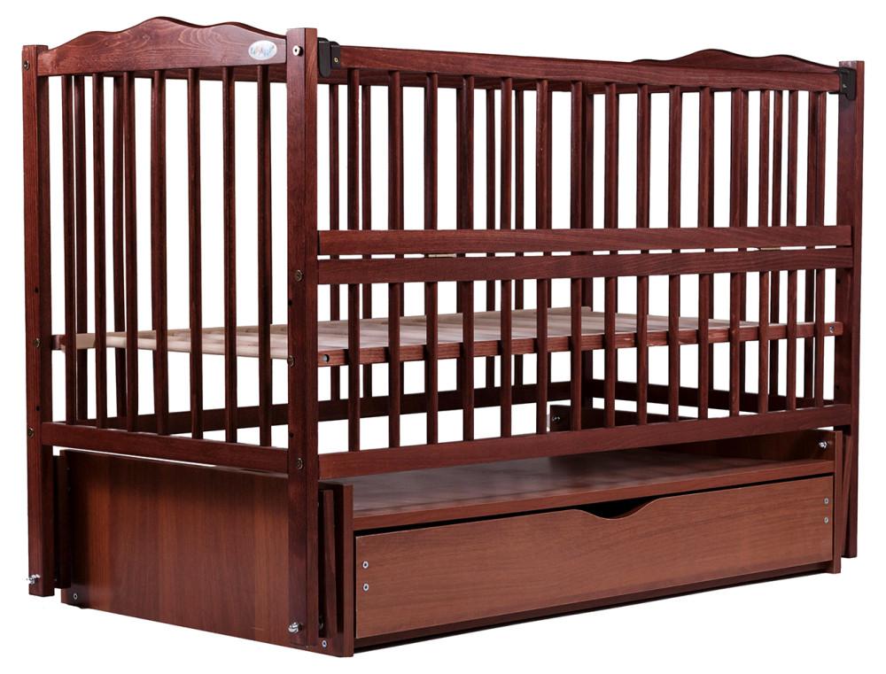 Кровать Babyroom Веселка маятник, ящик, откидной бок DVMYO-3  бук тик