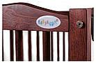 Кровать Babyroom Веселка маятник, ящик, откидной бок DVMYO-3  бук тик, фото 6