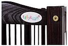 Кровать Babyroom Веселка маятник, ящик, откидной бок DVMYO-3  бук венге, фото 6