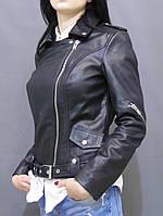 Куртка кожаная женская КОСУХА черная