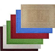 Полотенце коврик для ног 50Х70 Хлопок 680гр/м2 Белый Кофейный Синий