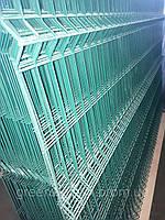 Секция ограждения длиной 2500 мм из сварной сетки 3D, ЭКОНОМ цинк/полимер, 3/4 мм, PROMZABOR, Украина, высота