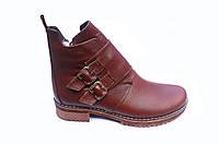 Ботинки женские кожаные весенние 36-41 коричневый