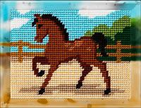 """Набор для вышивания с пряжей """"Лошадка"""" 15х20 см. Bambini арт. 2259, фото 1"""