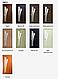 Двери межкомнатные Новый стиль Лилия со стеклом и цветным рисунком, цвет ольха 3D, фото 2