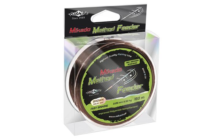 Леска Mikado Method Feeder 150м 0,24мм 4,9кг (бронзовый)