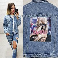 Куртка джинсовая Show фабричный китайдлина 55 см