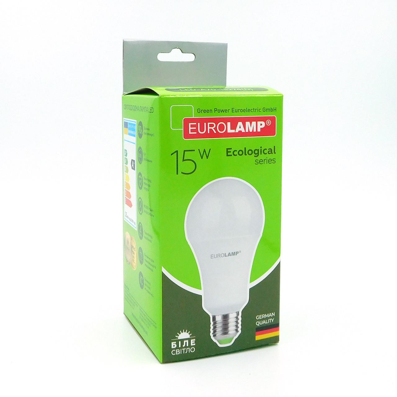 "LED Лампа Eurolamp ECO серия ""P"" A70 15W E27 4000K"