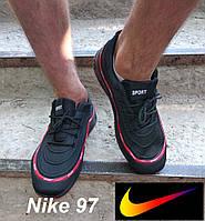 Мужские кроссовки Nike Air Max 97. Реплика. Черные кроссовки Найк., фото 1