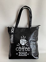 Черная женская стильная сумочка, повседневная сумка шоппер на длинном плечевом ремне, фото 1