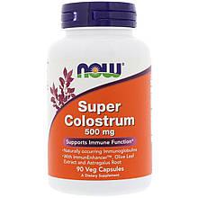 """Молозиво NOW Foods """"Super Colostrum"""" усиленная поддержка иммунитета, 500 мг (90 капсул)"""