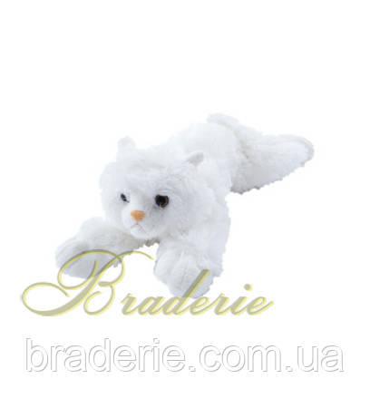 Мягкая игрушка Кот белоснежный (лежит) 5212
