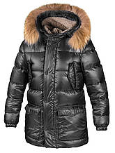 Детская куртка для мальчика ЧП Крючков В.Е. Украина МОРИС Черный