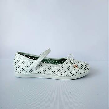 Школьные перфорированные туфли девочкам, р. 32-37 Сменка.