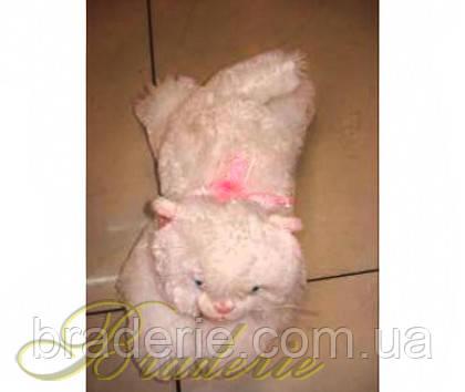 Мягкая игрушка озвученная Кот белый пушистый 3
