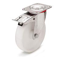Колеса полиамидные из полиамида-6 диаметр 80 мм с поворотным кронштейном с фиксатором