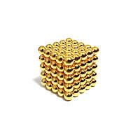 Неокуб NeoCube Золотой 5×5 (125 шариков по 5 мм)