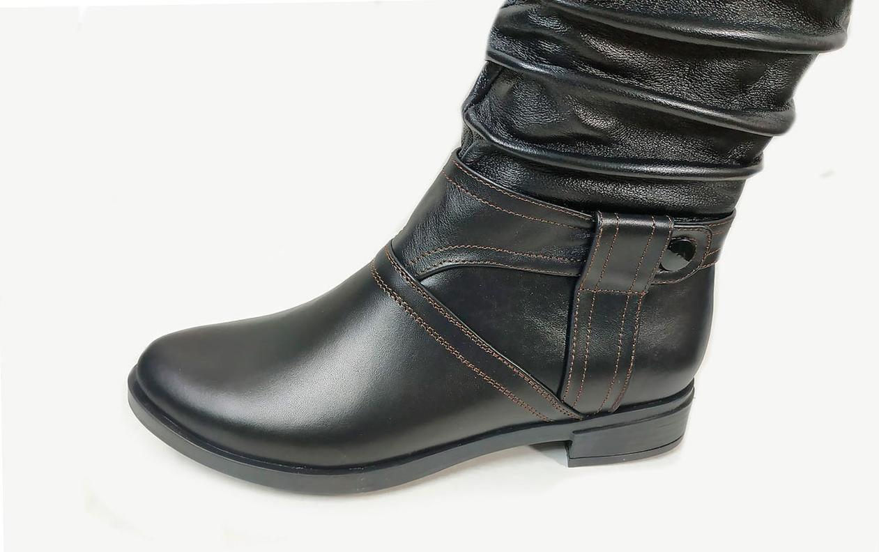Женские кожаные сапоги  36-41 черный