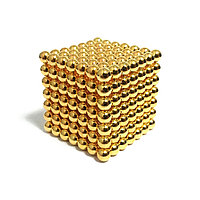 Неокуб NeoCube Золотой 7×7 (343 шарика по 5 мм), фото 1