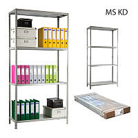 Стеллаж металлический Практик MS-200KD/100x50/4 полки, фото 1