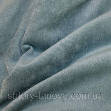 Велюр терсиопел серо-голубой