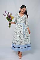 Плаття-максі на запах в стильний квітковий принт