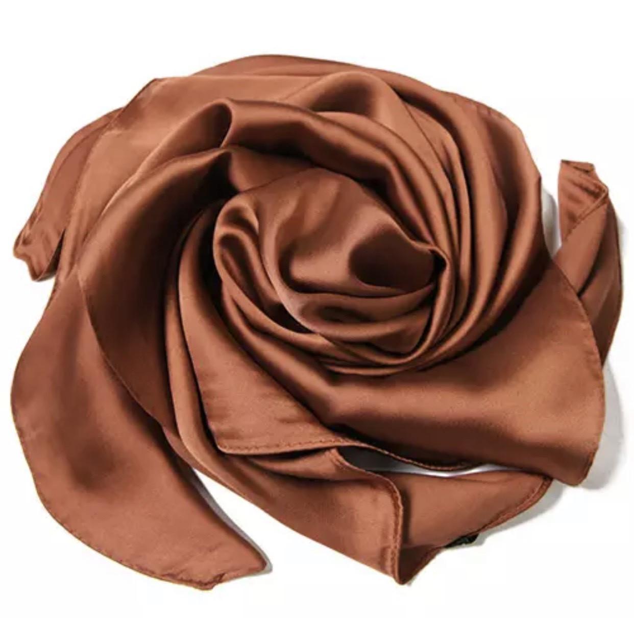 Хустка 70*70 см коричневий