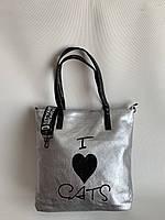 Молодежная сумка шопер с широким ремнем через плечо вместительная повседневная, фото 1