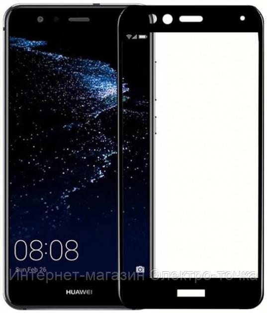 Защитное стекло 3D Huawei P10 черное