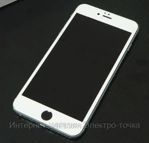 Защитное стекло 3D iPhone 6 / 6S белое
