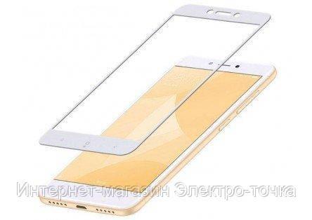 Защитное стекло 3D Xiaomi Redmi 4X белое