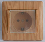 Розетка із заз. з кришкою сріблястий металік OSCAR (з рамкою), фото 4