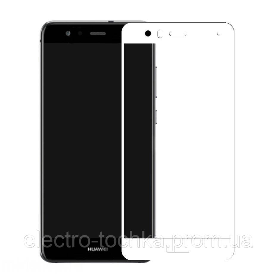 Защитное стекло 3D Huawei P20 Lite белое