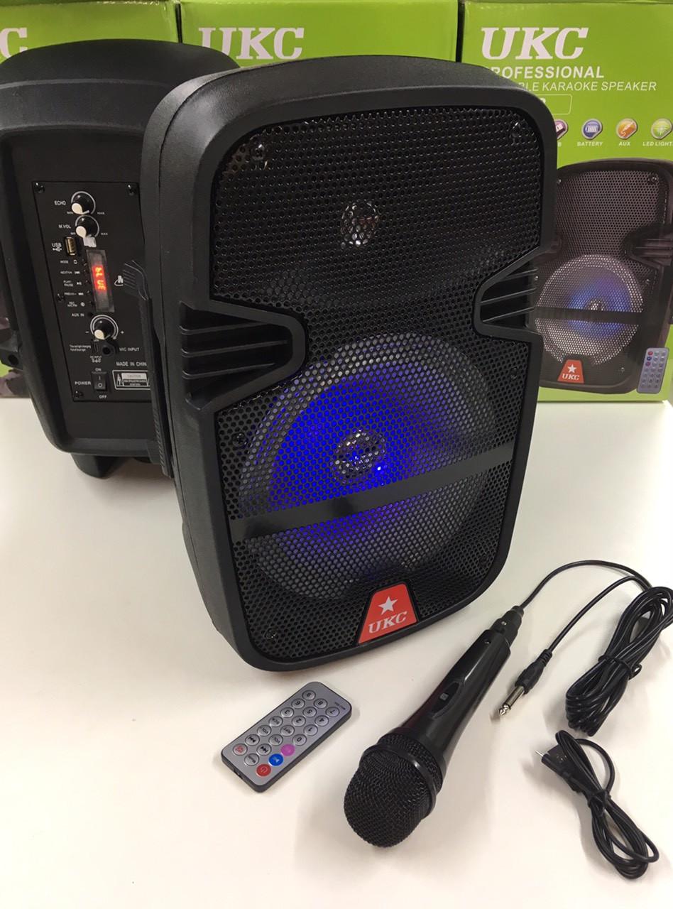 Портативная колонка UKC 8/ RE 258+проводной микрофон (1 шт/ящ)