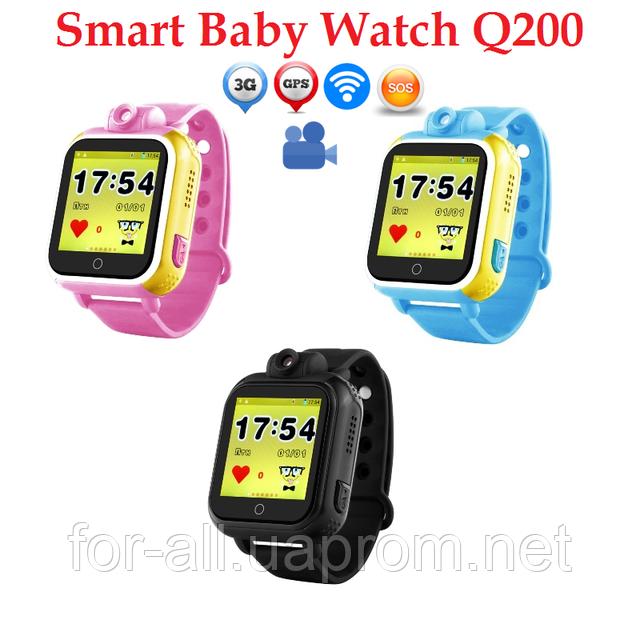Фото  детские часы с трекером Q200