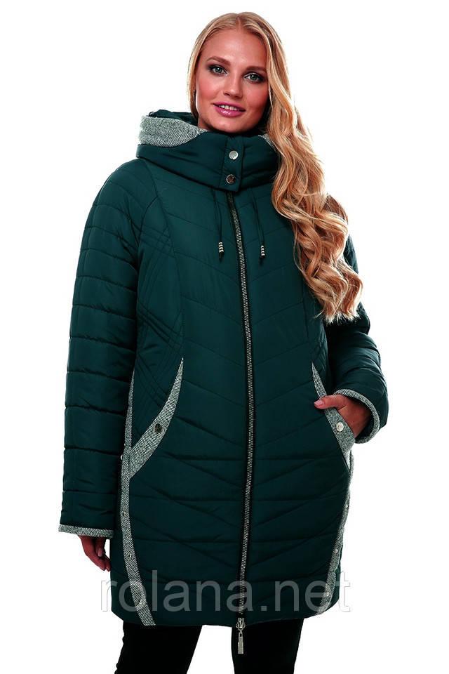 """Модная женская куртка от производителя. """"Изумруд"""""""