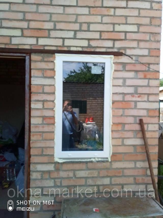 Одностворчатое глухое окно Rehau в Ирпене - фото бригады 11