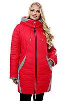 """Модная женская куртка от производителя. """"Красный"""""""