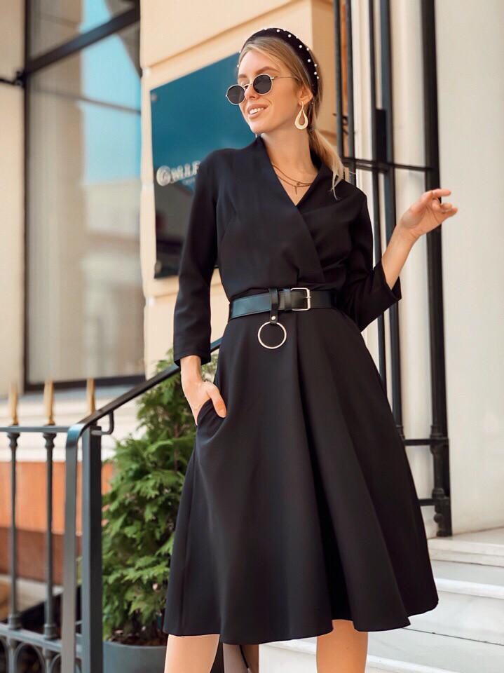 Платье стильное женское красное, чёрное