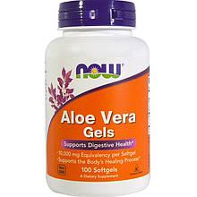 """Алоэ вера NOW Foods """"Aloe Vera Gels"""" для здоровья пищеварительной системы (100 гелевых капсул)"""