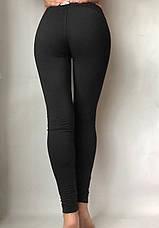 Бесшовные леггинсы женские, 51 черные, фото 3